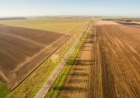 Landwirtschaft im Sonnenaufgang